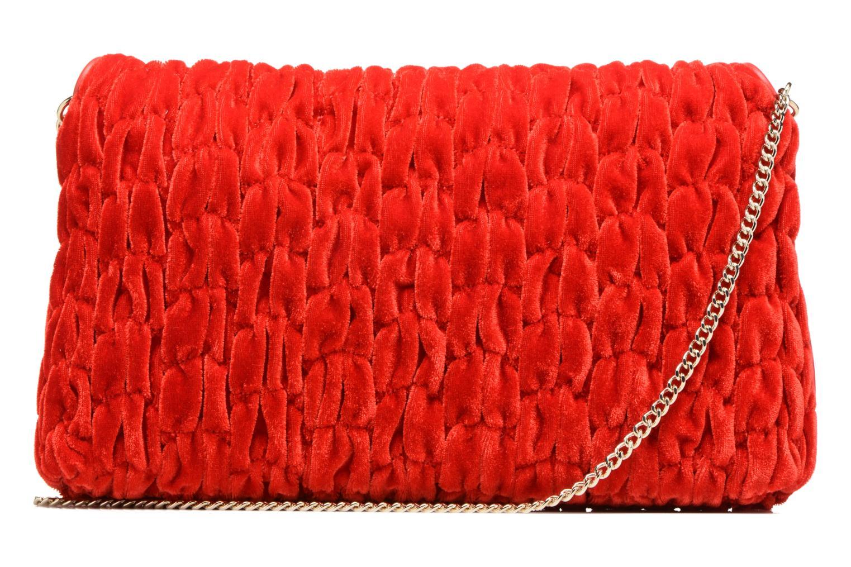 Handbags Love Moschino Pochette Chaine Velvet Red front view