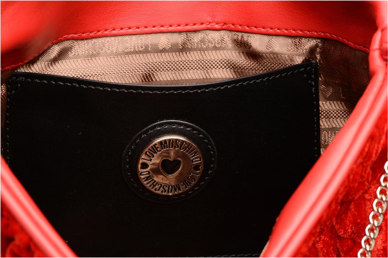 Handtaschen Love Moschino Pochette Chaine Velvet rot ansicht von hinten