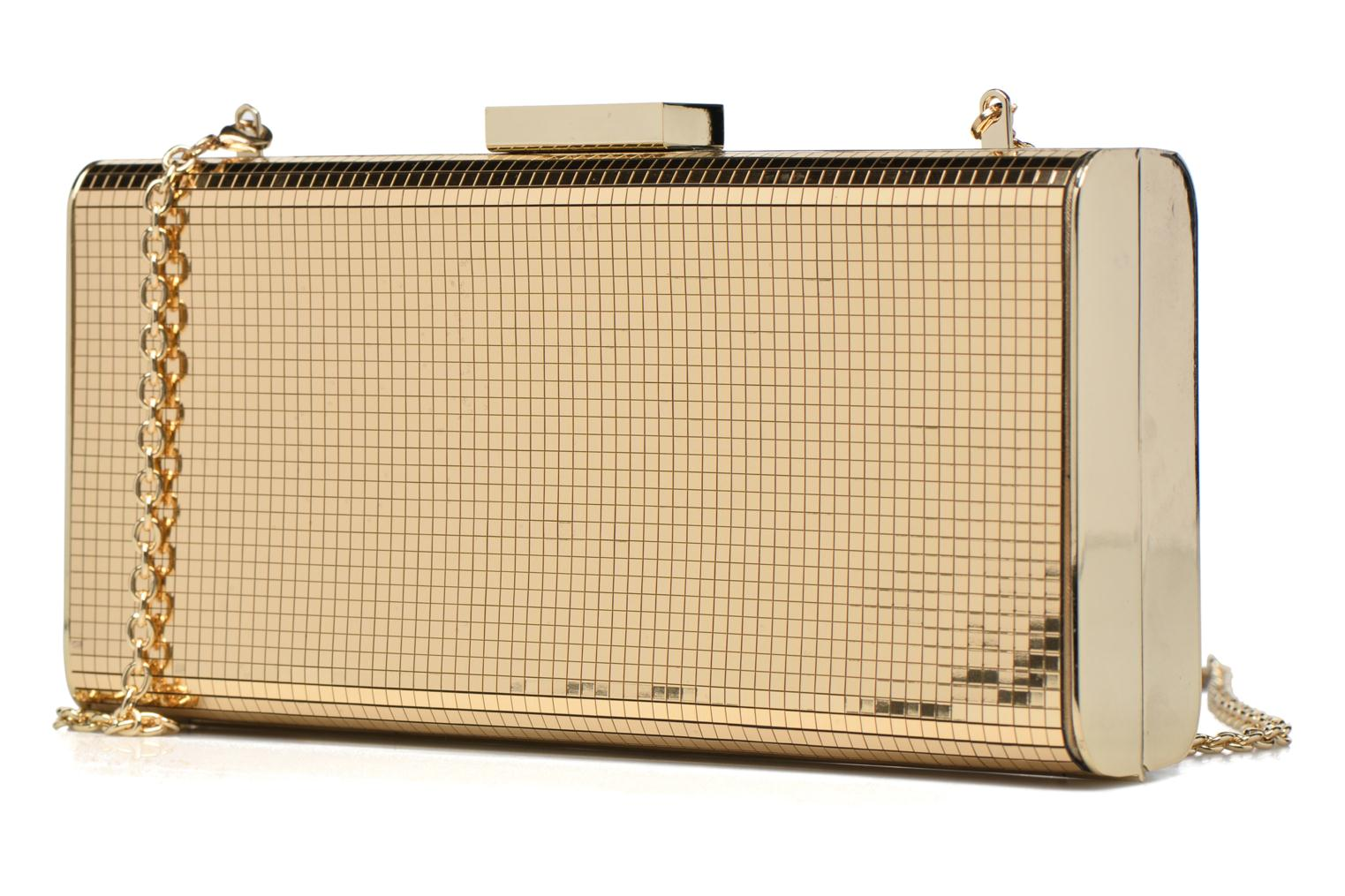 Handbags Love Moschino Minaudière Multi-Facettes Bronze and Gold model view