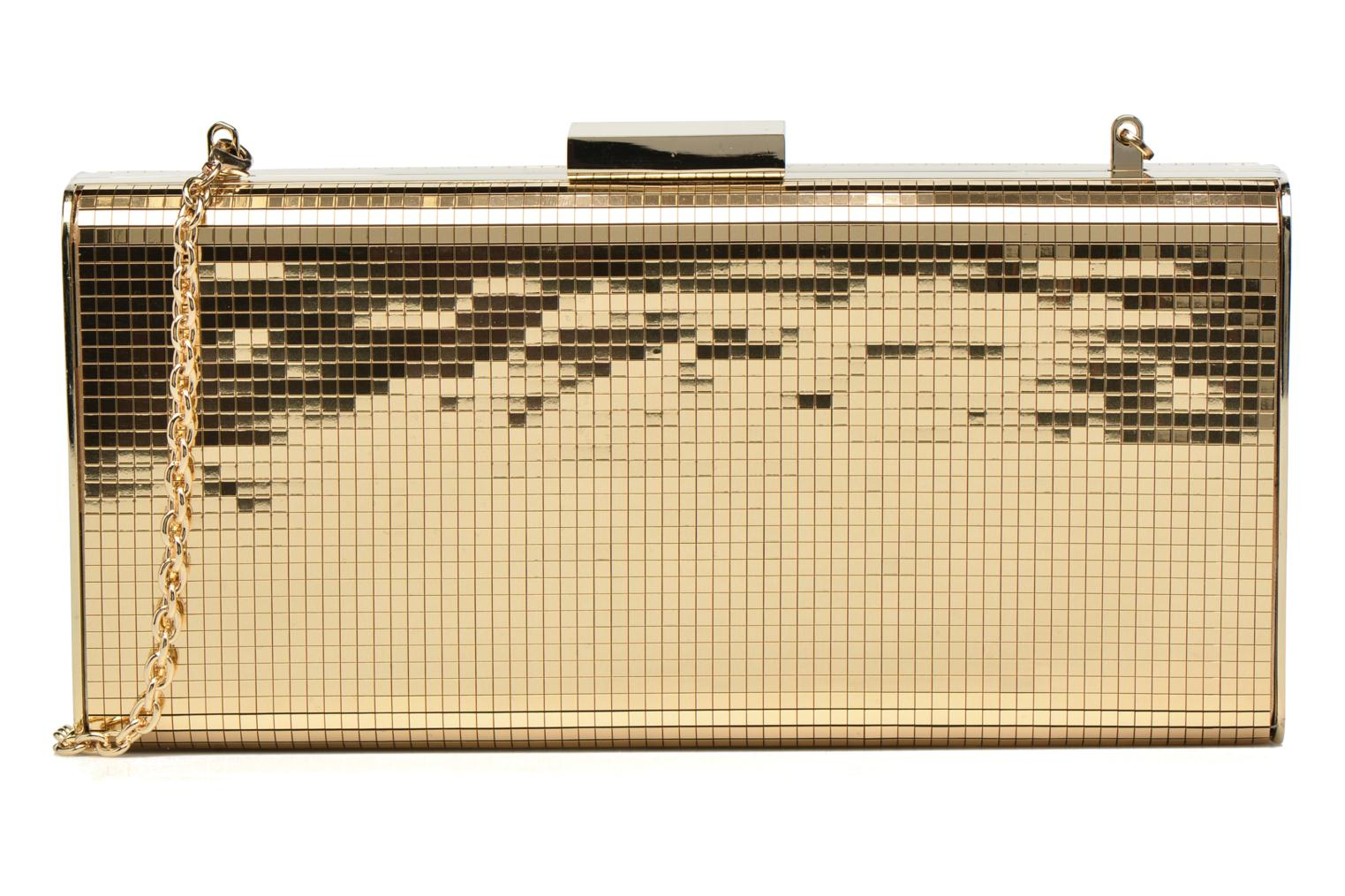 Handbags Love Moschino Minaudière Multi-Facettes Bronze and Gold detailed view/ Pair view