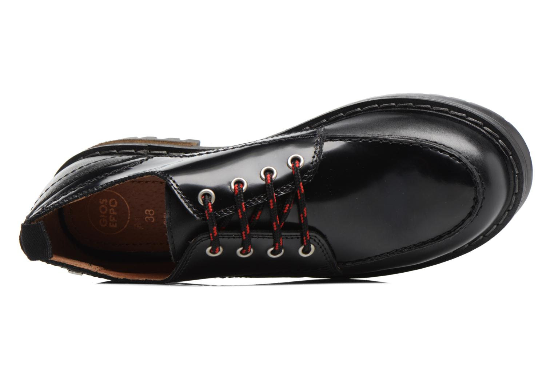 Zapatos con cordones Gioseppo Tura Negro vista lateral izquierda