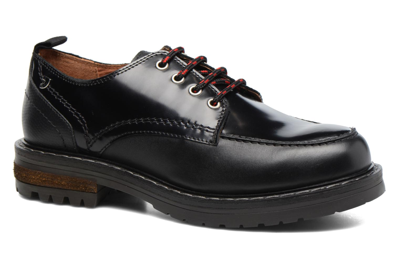 Lace-up shoes Gioseppo Tura Black detailed view/ Pair view