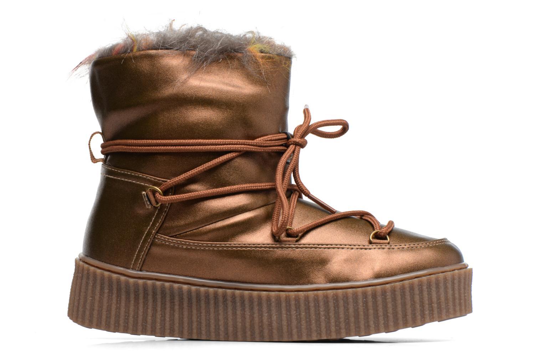 Stiefel Gioseppo Fourra gold/bronze ansicht von hinten