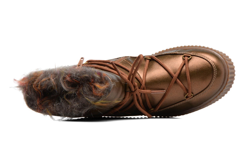 Botas Gioseppo Fourra Oro y bronce vista lateral izquierda