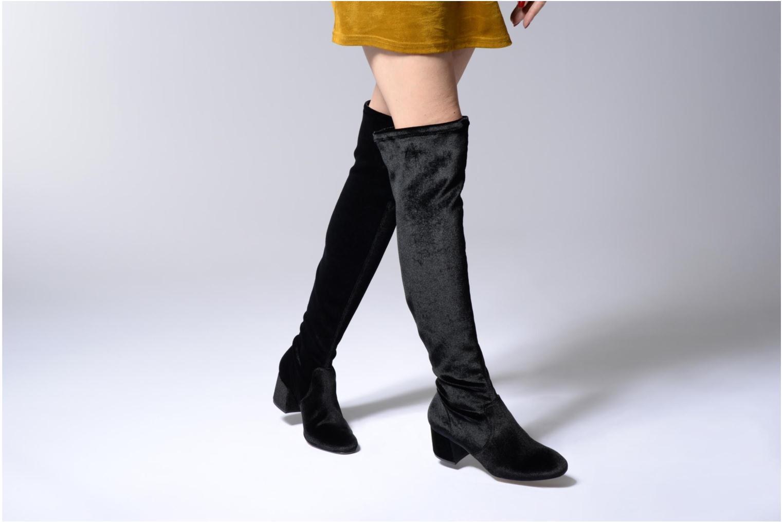 Stiefel Gioseppo Galule schwarz ansicht von unten / tasche getragen