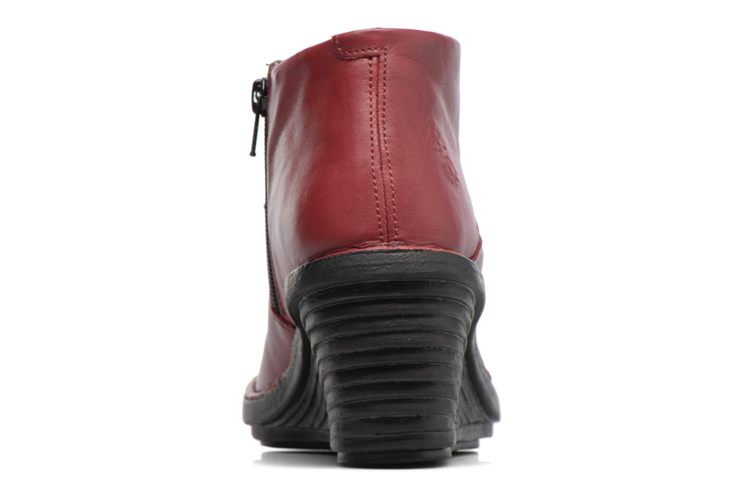 Ankle boots Fly London SIPI Burgundy view from the right