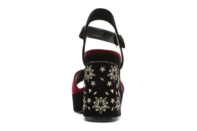 Sandales et nu-pieds MTNG Valor Bordeaux vue droite