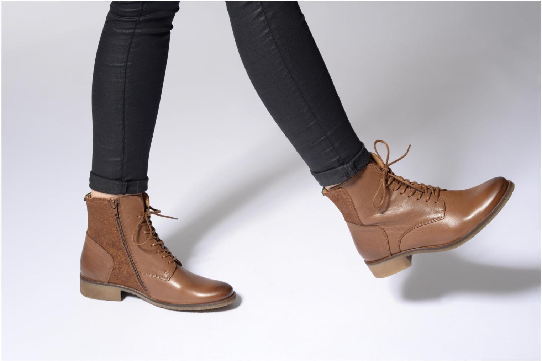 Bottines et boots Kickers LIFEBIS Marron vue bas / vue portée sac