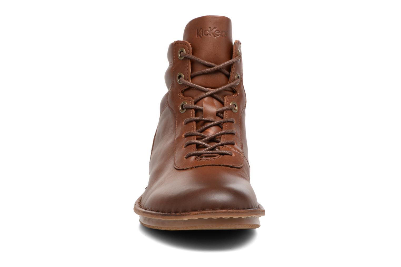 Bottines et boots Kickers WABUCK Marron vue portées chaussures