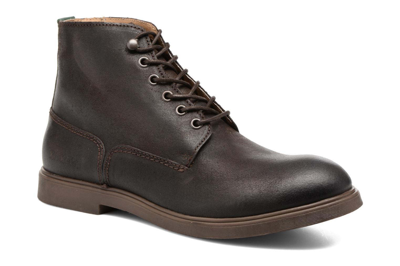 Bottines et boots Kickers HARLEMUS Marron vue détail/paire