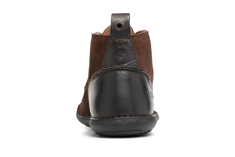 Chaussures à lacets Kickers SWIRATAN Marron vue droite