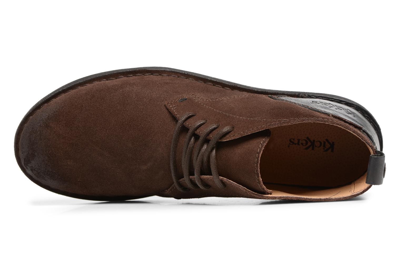 Chaussures à lacets Kickers SWIRATAN Marron vue gauche