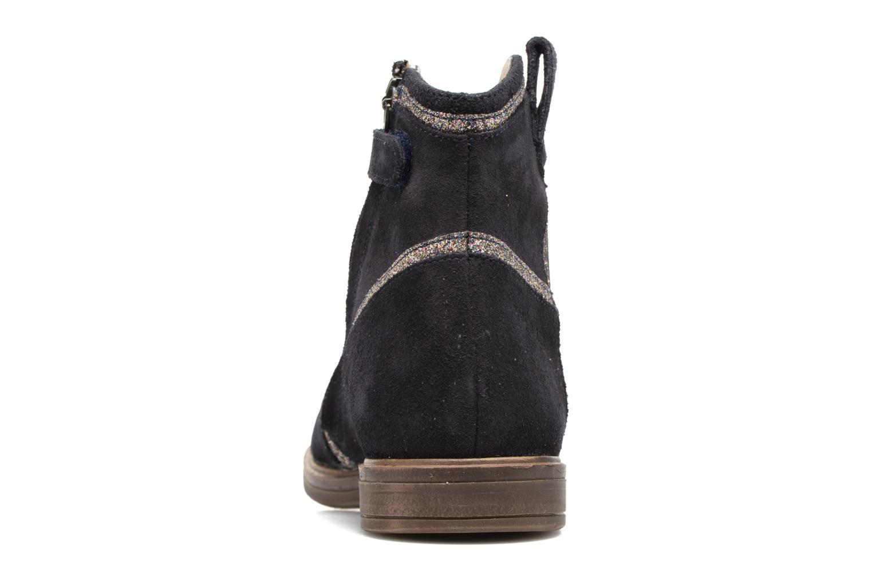 Bottines et boots Pom d Api Hobo Glitter Bleu vue droite