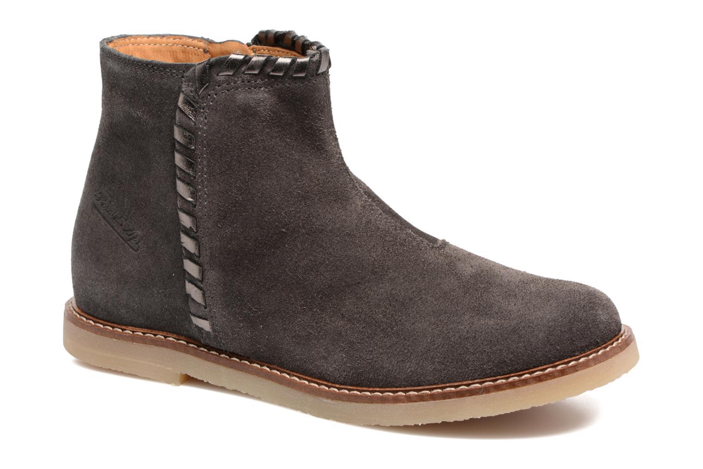 Bottines et boots Pom d Api Patex Braided Gris vue détail/paire