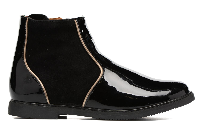 City Boots Vernis / Chev Velours Noir