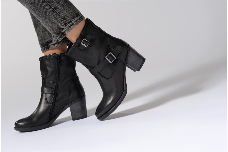 Bottines et boots Georgia Rose Malicia Noir vue bas / vue portée sac