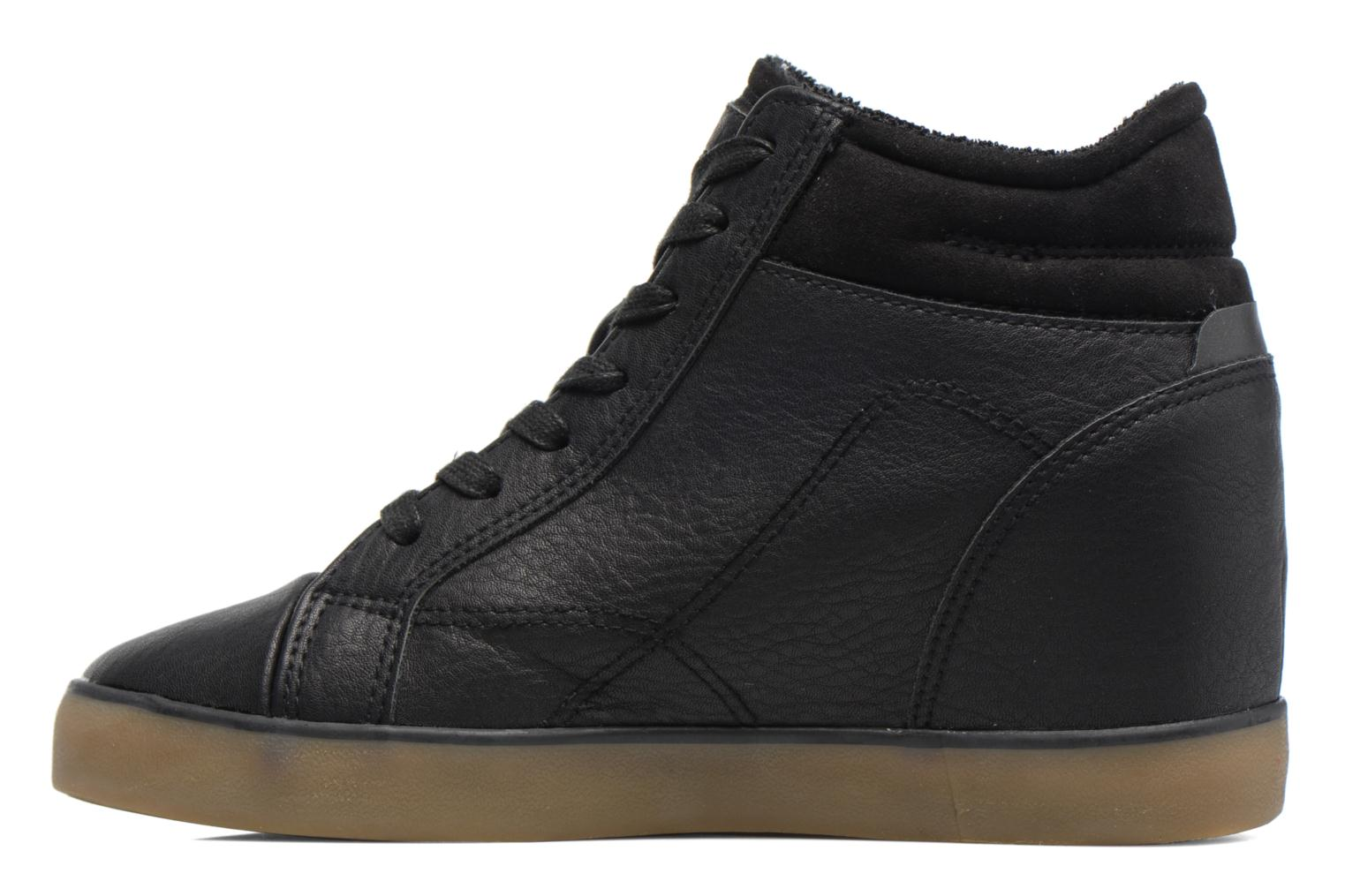 Trainers Esprit STAR WEDGE Black front view