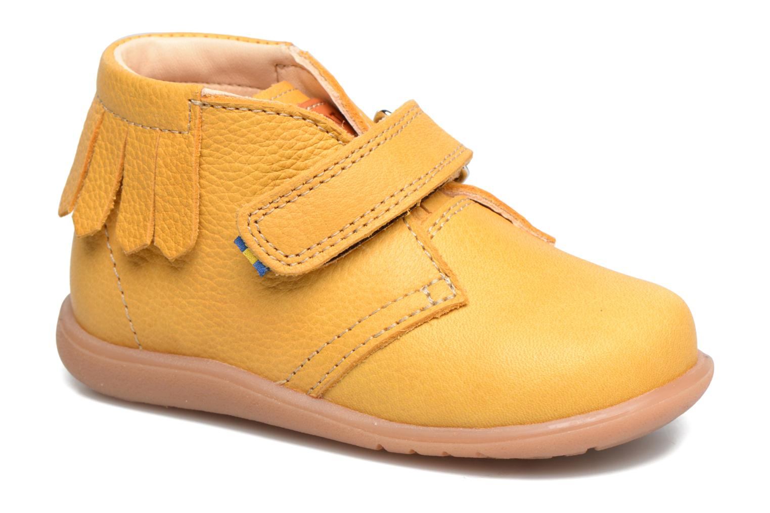Ankle boots Kavat Tinka EP Yellow detailed view/ Pair view