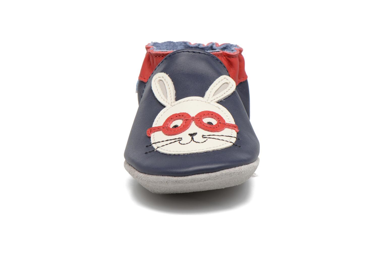 Chaussons Robeez Smart Rabbit Bleu vue portées chaussures