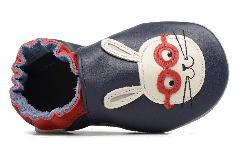 Chaussons Robeez Smart Rabbit Bleu vue gauche