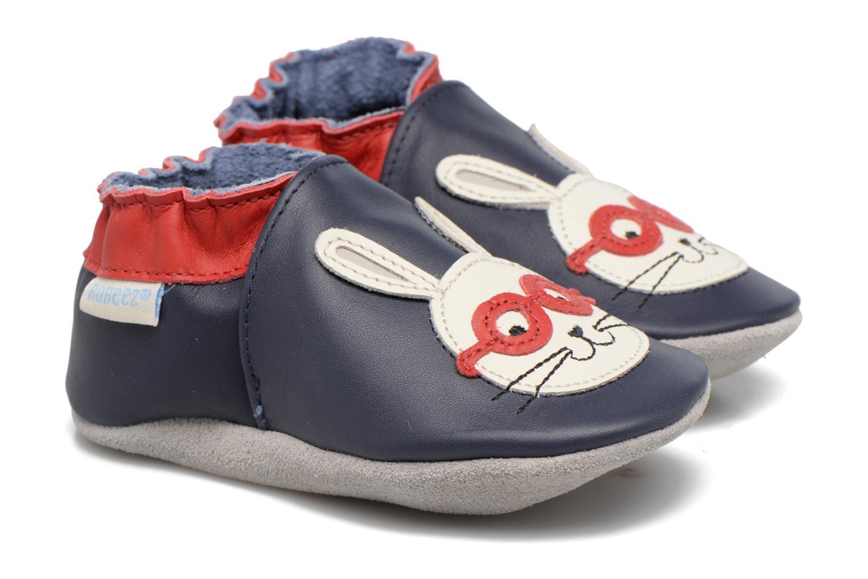 Chaussons Robeez Smart Rabbit Bleu vue détail/paire