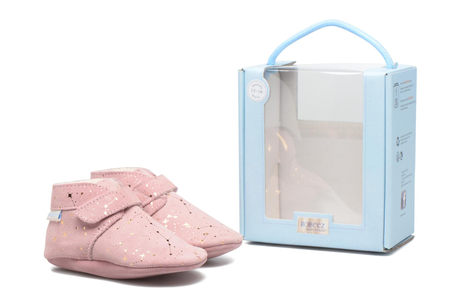 Chaussons Robeez Pole Nord 2 Rose vue 3/4