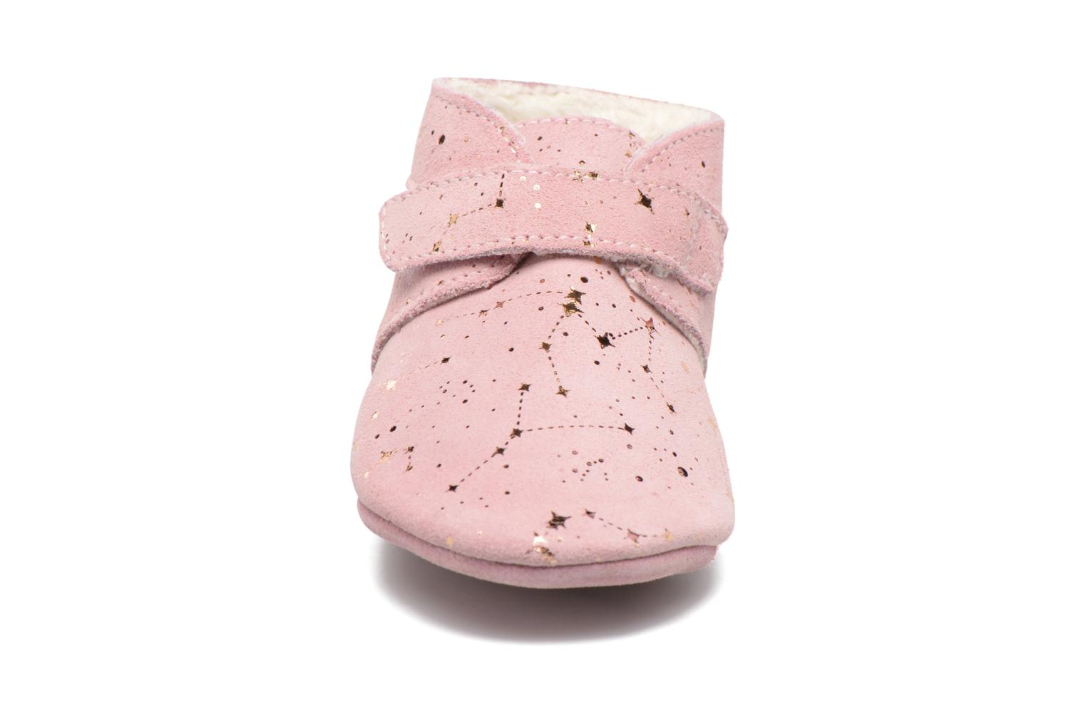 Chaussons Robeez Pole Nord 2 Rose vue portées chaussures