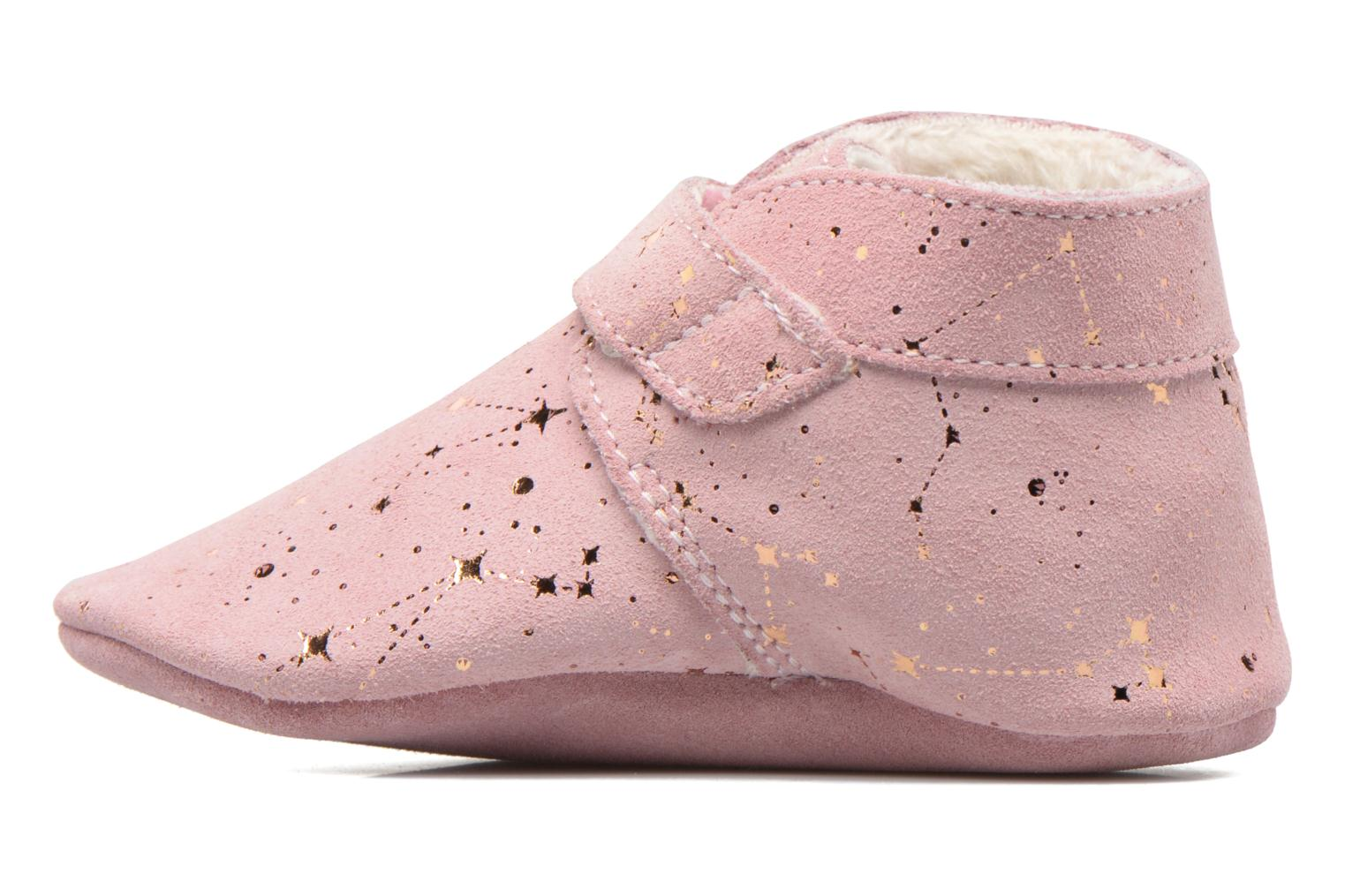 Chaussons Robeez Pole Nord 2 Rose vue face
