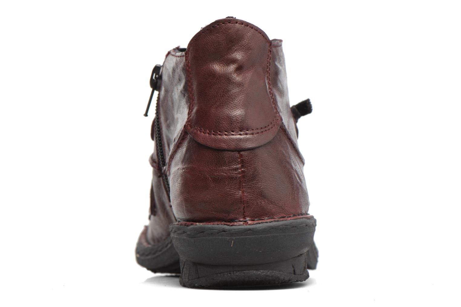 Ankle boots Khrio Filim Burgundy view from the right