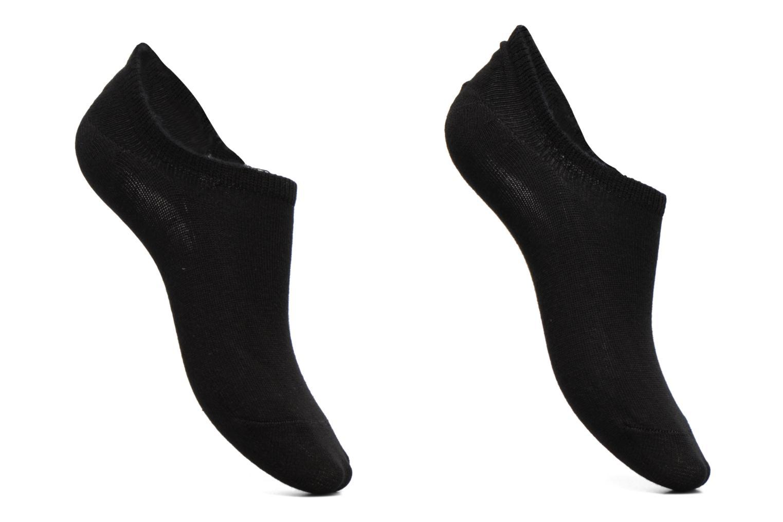 Chaussettes et collants Pieces Chaussettes Sneakers Tess Lot de 2 Noir vue détail/paire