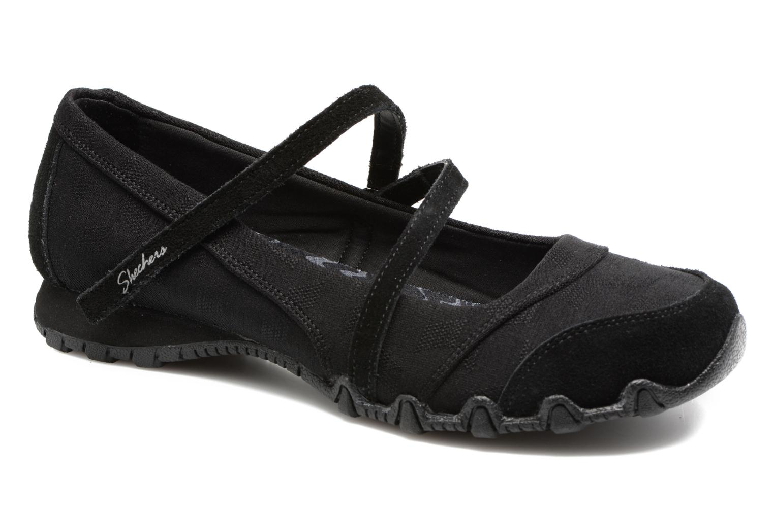 Ballerina's Skechers Go step lite quaint Zwart detail