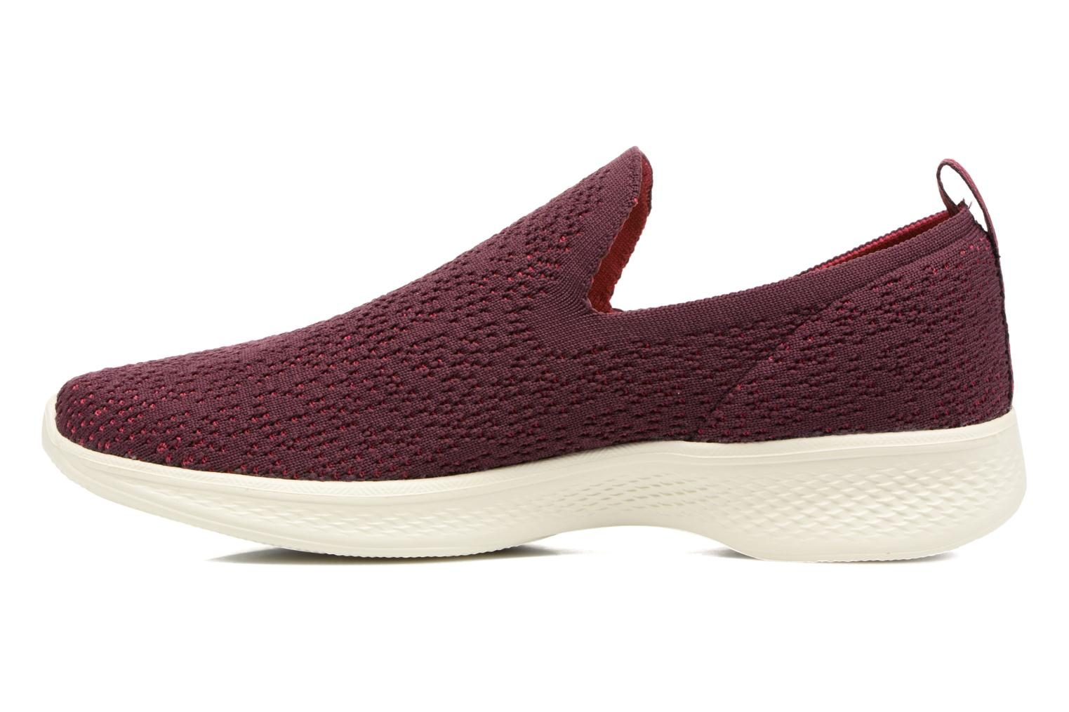Sport shoes Skechers Go walk 4 gifted Burgundy front view