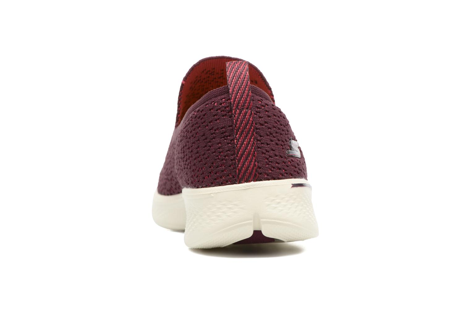 Sport shoes Skechers Go walk 4 gifted Burgundy view from the right