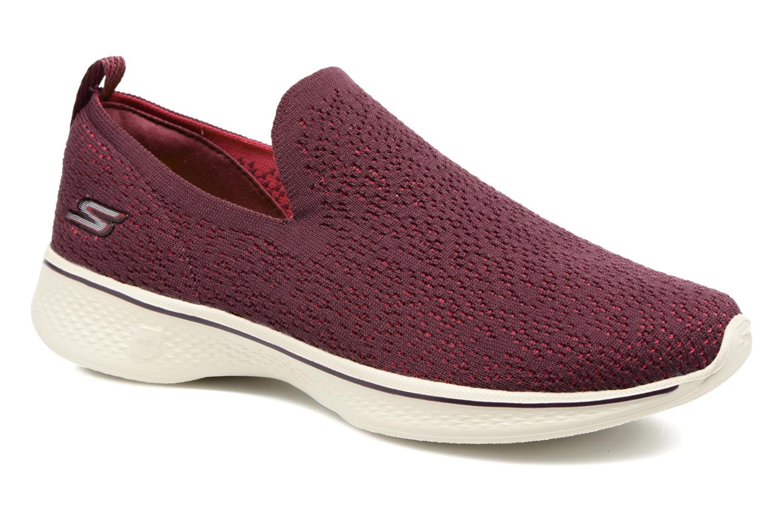 Sportssko Skechers Go walk 4 gifted Bordeaux detaljeret billede af skoene