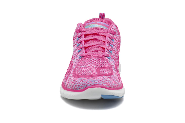 Sportschuhe Skechers Flex Appeal 2.0 New Gem rosa schuhe getragen