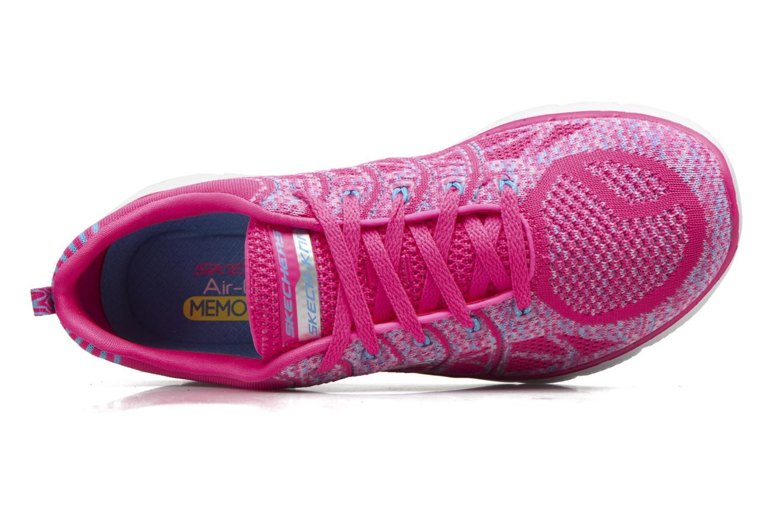Sport shoes Skechers Flex Appeal 2.0 New Gem Pink view from the left