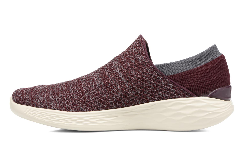 Chaussures de sport Skechers You Bordeaux vue face