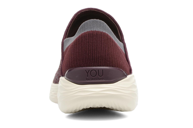 Chaussures de sport Skechers You Bordeaux vue droite