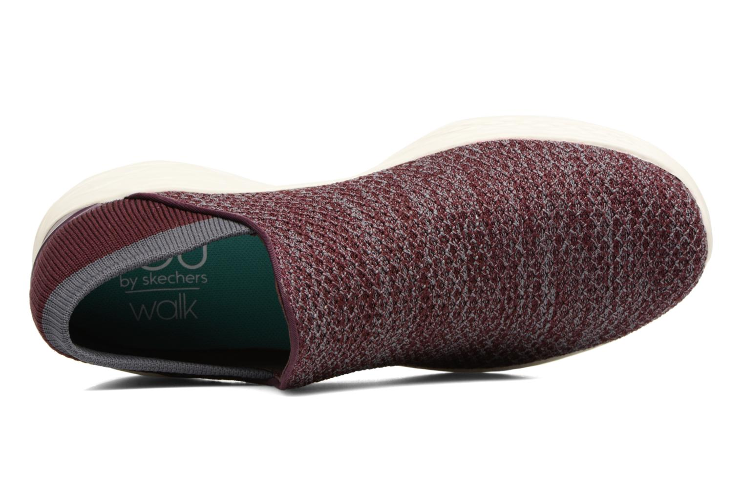 Sport shoes Skechers You Burgundy view from the left