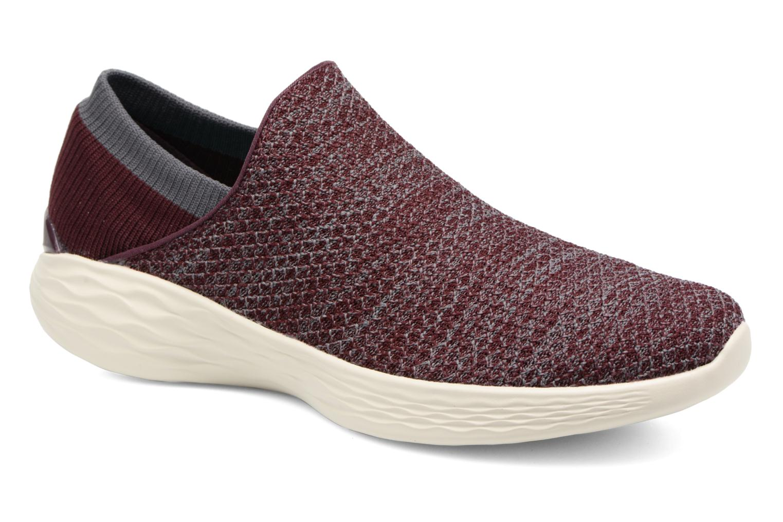 Chaussures de sport Skechers You Bordeaux vue détail/paire