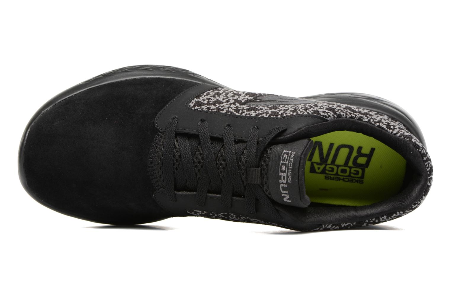 Sport shoes Skechers Go run 601 Black view from the left