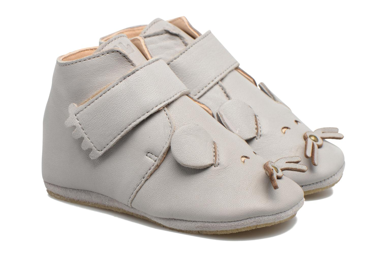 Chaussons Easy Peasy Kiny Mousse Gris vue portées chaussures