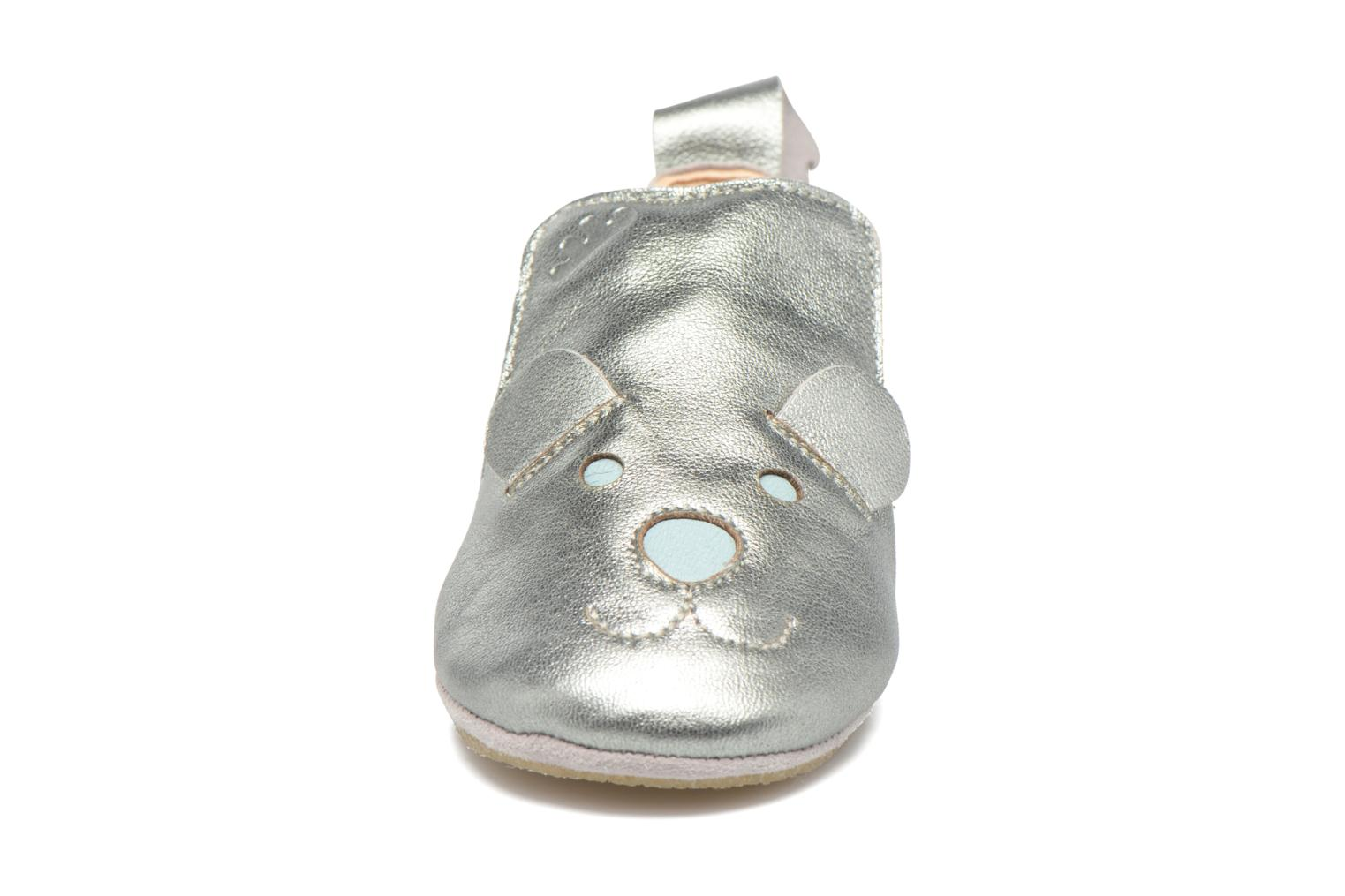 Chaussons Easy Peasy Blublu teddy Argent vue face