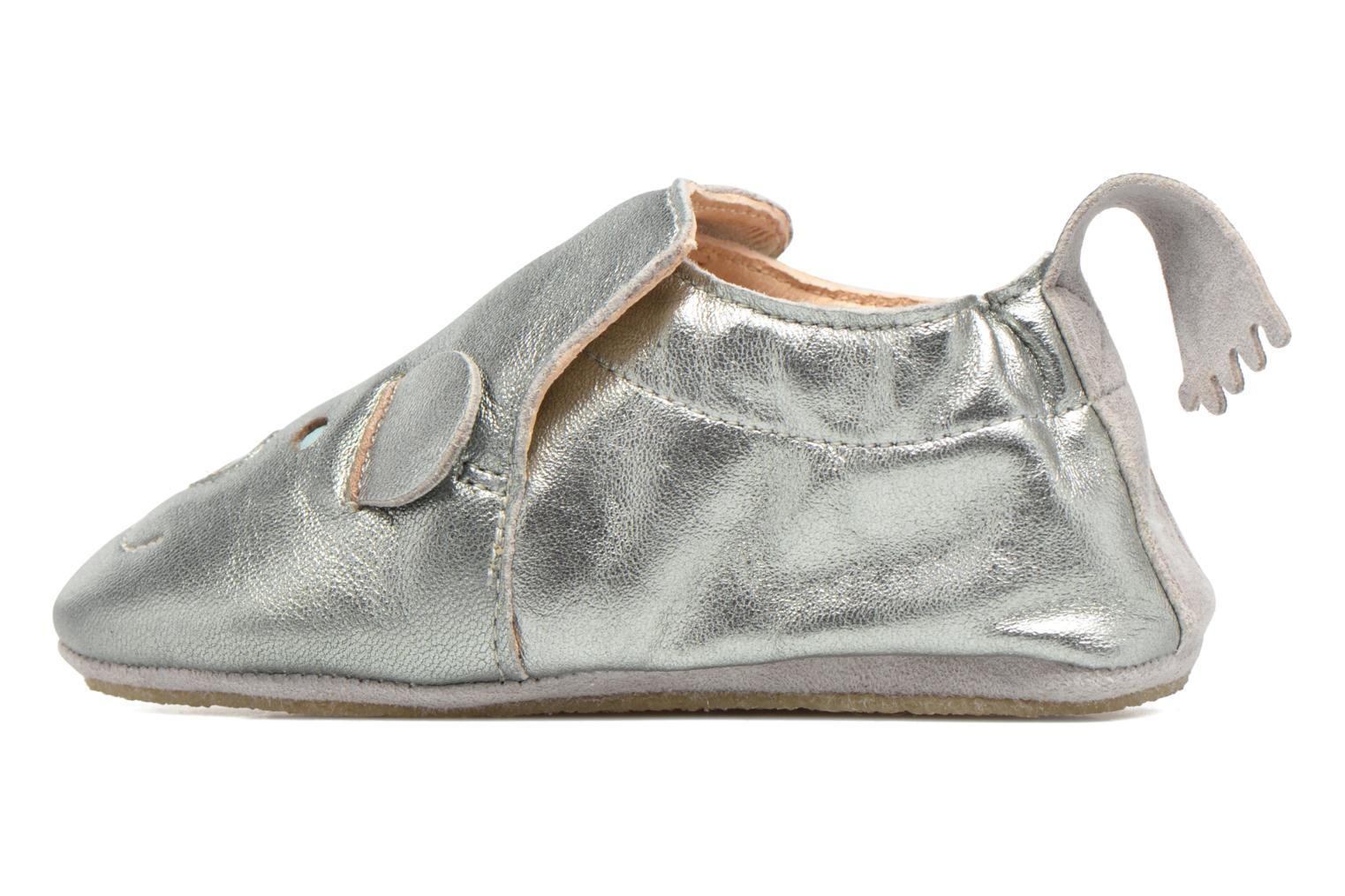 Slippers Easy Peasy Blublu teddy Silver view from the right