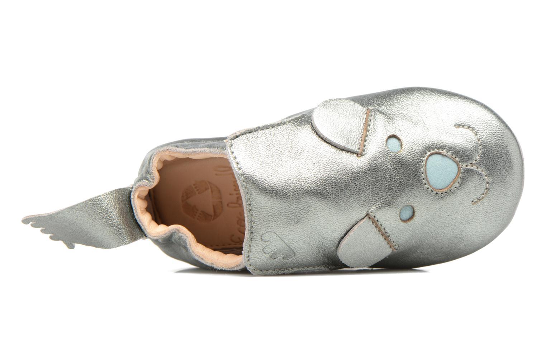 Pantuflas Easy Peasy Blublu teddy Plateado vista de arriba