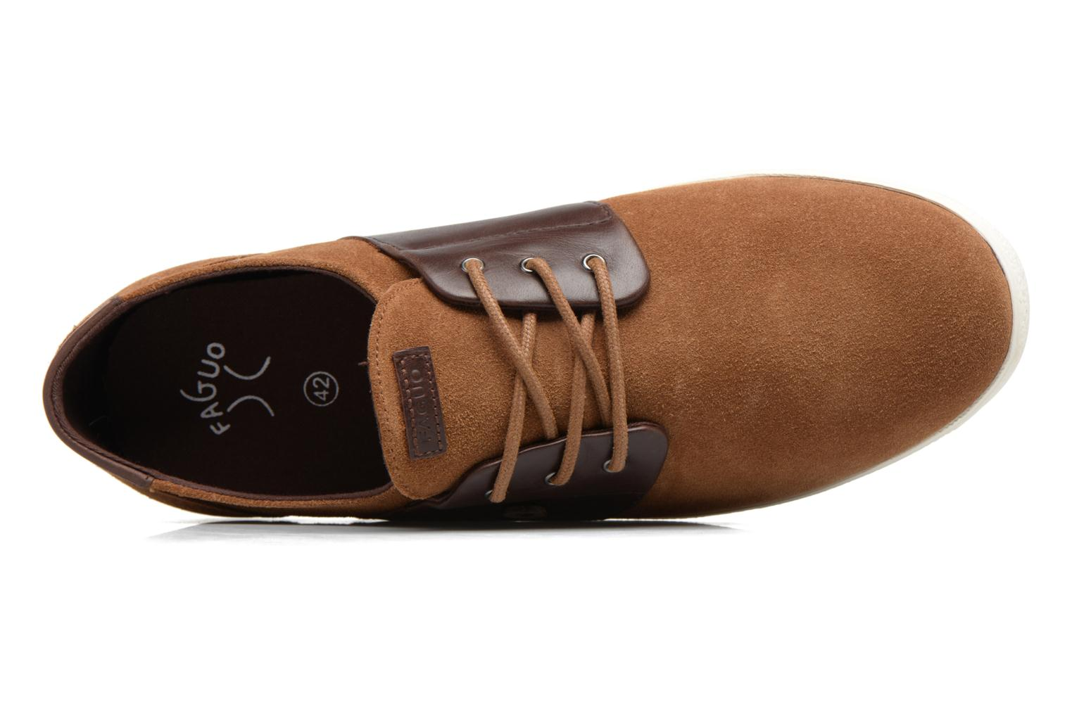 Trainers Faguo CYPRESS23 Brown view from the left