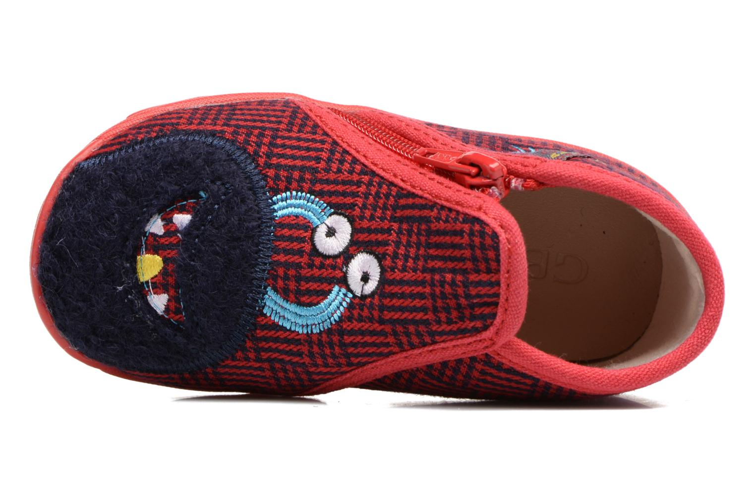 Slippers GBB Paco Red view from the left