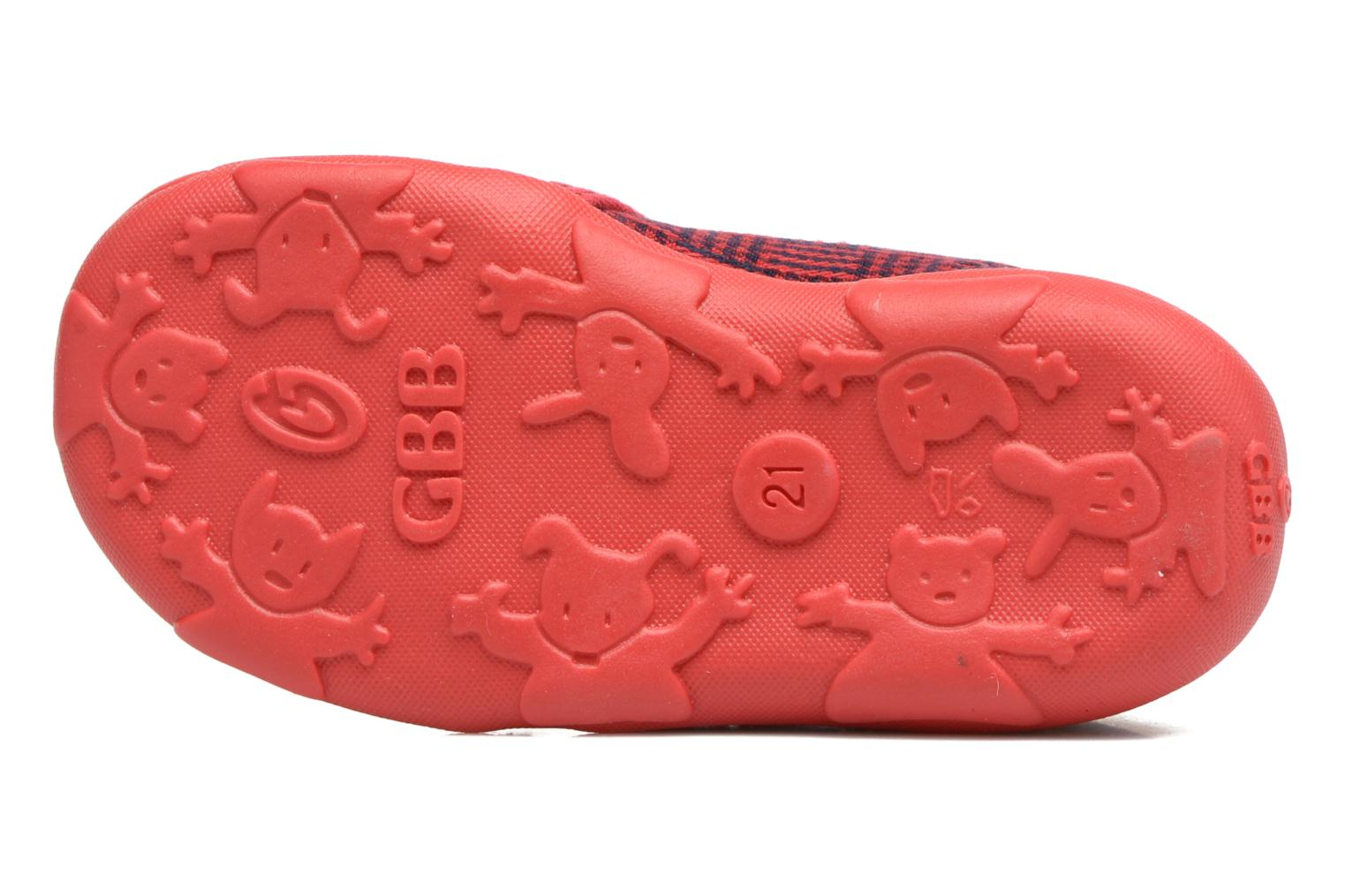 Chaussons GBB Paco Rouge vue haut