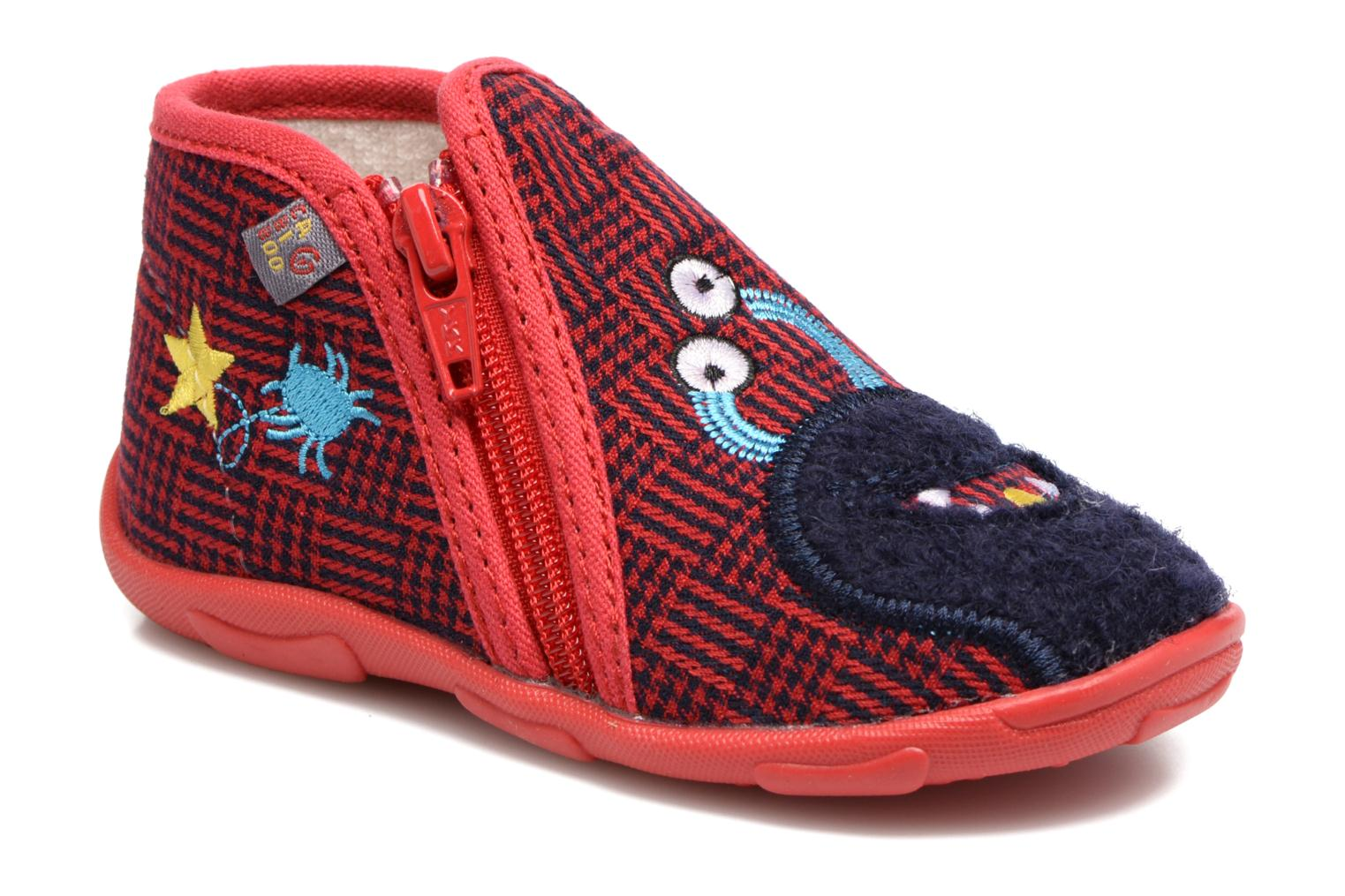 Slippers GBB Paco Red detailed view/ Pair view