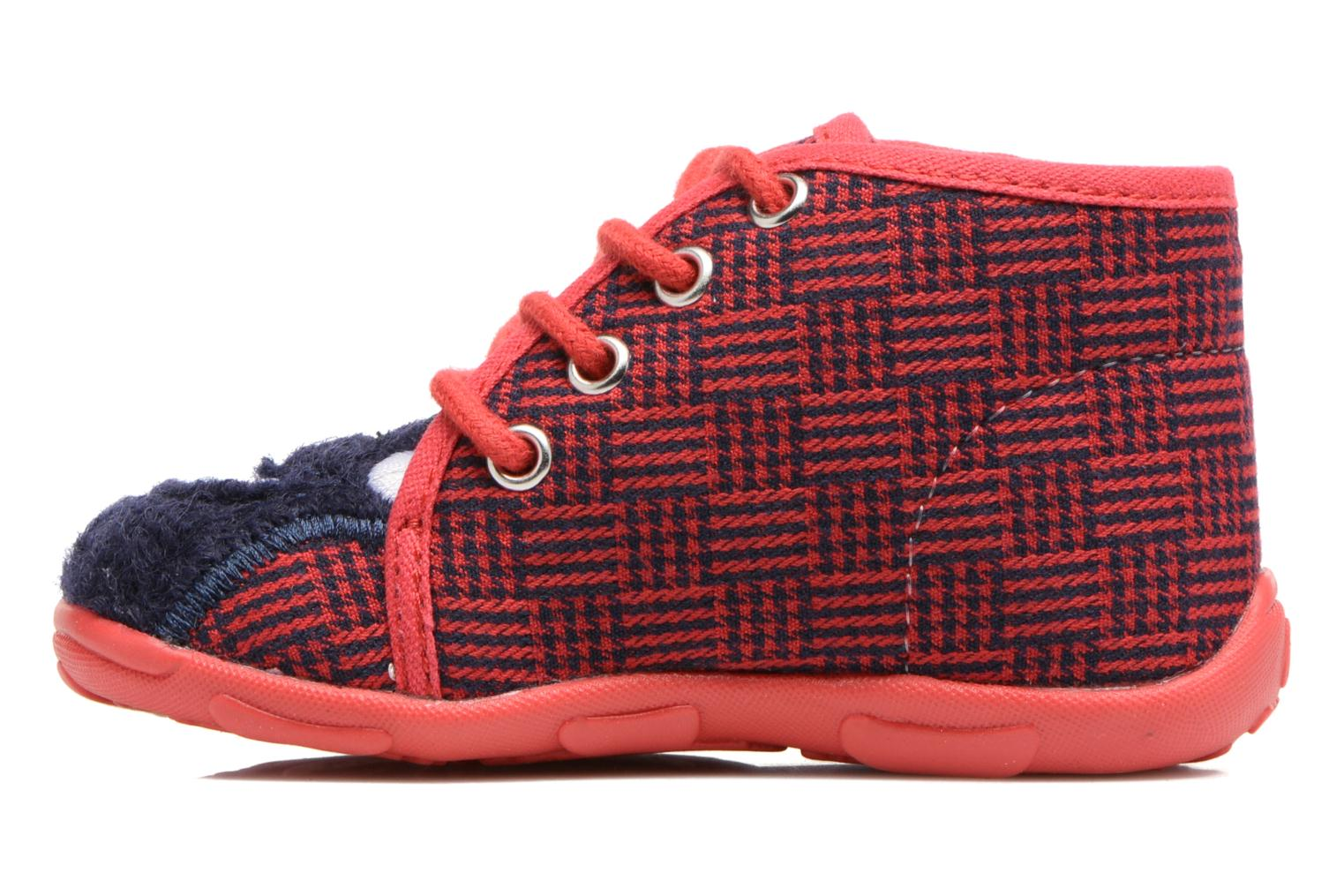 Chaussons GBB Pablito Rouge vue face